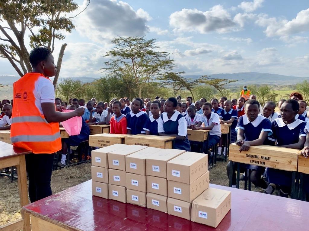 Bethal sanitary pad demonstration