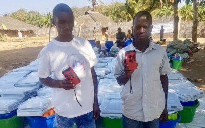 Radio-lights Distributed to Cyclone Survivors