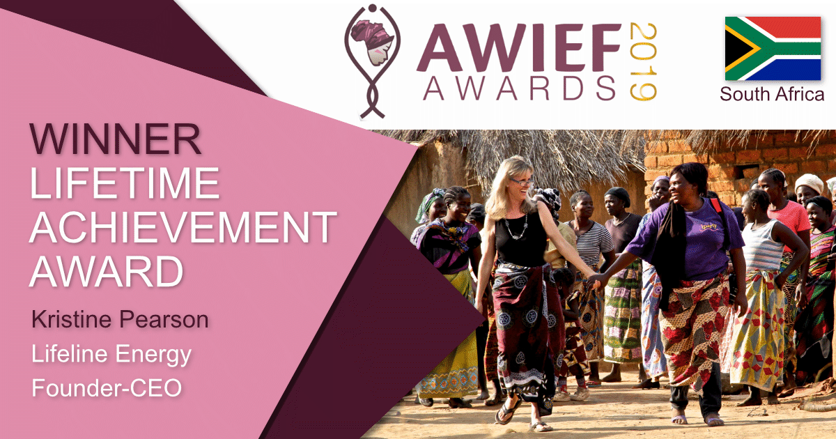 Kristine Pearson honoured with AWIEF Lifetime Achievement Award