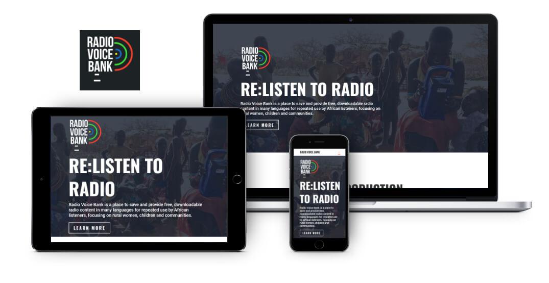 Radio Voice Bank | logo and website